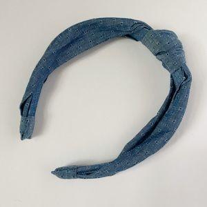 Denim Knotted Headband NWT